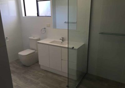 1100 shower, 1200 vanity back to wall toilet